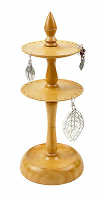 Tiered Wooden Earring Stand / Holder Display Tidy Handmade India FREE DELIVERY • 19.99£