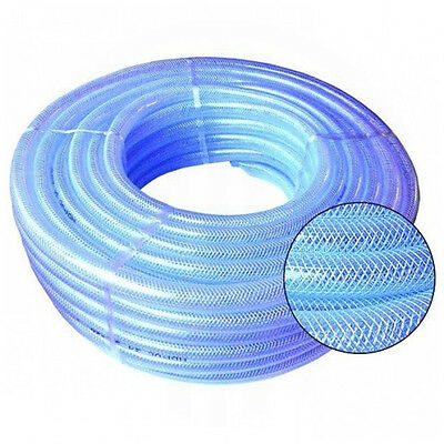 £0.99 • Buy PVC HOSE Clear Flexible Reinforced Braided - Food Grade OIL / WATER Pipe Tube