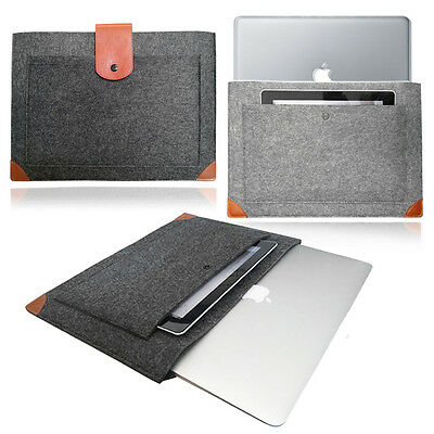 $8.32 • Buy Felt Sleeve LEATHER STRAP Case Cover Bag For Apple MacBook Pro Air