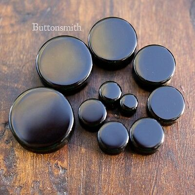 $7.45 • Buy Pair Of Black Obsidian Organic Stone Plugs Gauges Ear 8g 6g - 1/2  - 1  -1 Sizes