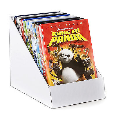 Black Or White Cardboard Counter Top Display Stand - Books DVD's Greeting Cards  • 1.86£