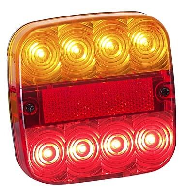 AU19.95 • Buy LED COMBINATION LAMP AMBER RED STOP TAIL INDICATOR LIGHT 12V TRAILER UTE Track