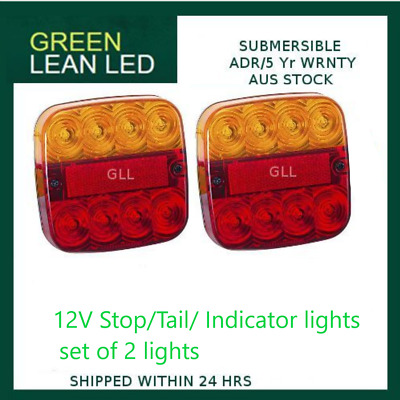 AU42.90 • Buy Led Combination Lamps Amber/red Stop Tail Indicator Light 12v Adr Trailer Ute