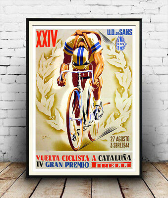 Ciclista A Cataluna  :  Vintage  Cycling Advertising  Poster Reproduction • 3.99£