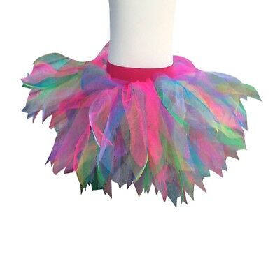 AU16.20 • Buy Neon Tutu Skirt Rainbow 80s Fancy Dress Party Costume Hen Party 80's Festival
