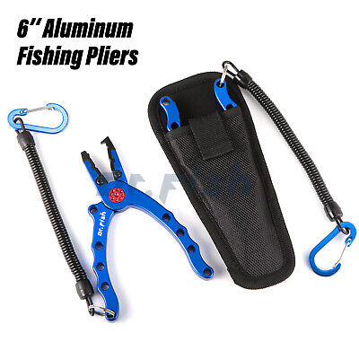 AU20.59 • Buy Aluminum Fishing Pliers Saltwater Braid Cutter Hook Remover Tackle 6  Stainless