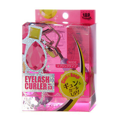 [KOJI] No 63 Wide 18R Curl & Keep Eyelash Curler With One Refill Pad JAPAN NEW • 15.41$