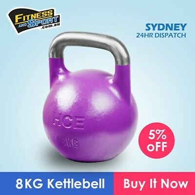 AU58.80 • Buy 8KG Competition Kettlebell Solid Steel Pro Grade Kettle Crossfit Gym Strength