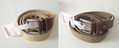 $12 • Buy Lot Of 2 Nwt Arizona Young Boys Fabric Casual Belts Tan & Olive Xl(34-36)