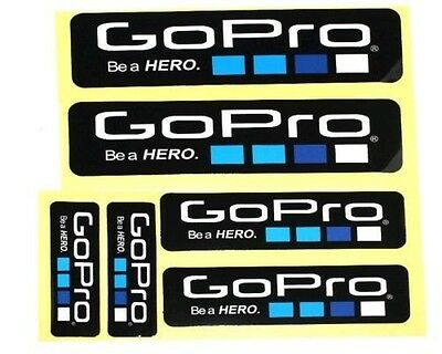 AU24.87 • Buy NEW 6 Piece Lot Gopro Hero 4 3+ STICKERS Go Pro Accessories Car Motorcycle Decal