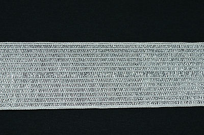 $ CDN1.75 • Buy WHITE KNITTED ELASTIC POLY ELASTANE RIBBON 47mm FOR WAISTBANDS ETC - CLEARANCE