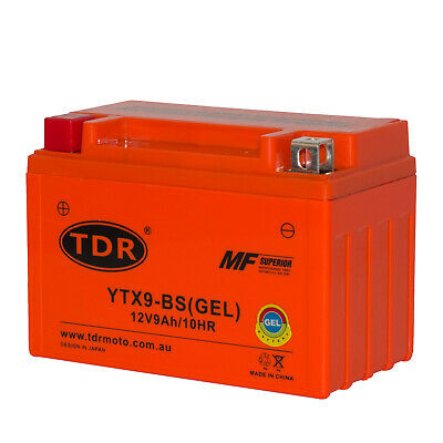 AU53.95 • Buy YTX9-BS 12V 9Ah Gel Motocycle Battery Honda 650CC NT650 Hawk GT NX650 XR650L