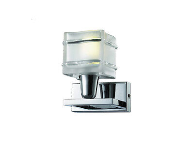 £33.68 • Buy TP24 Piccadilly Acton 3W LED Chrome Square Glass Wall Light