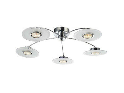 TP24 Central Chigwell 5 X 3W G40 LED Round Ceiling Light Chrome • 117.59£