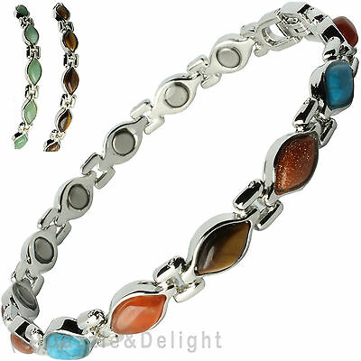 Magnetic Bracelet Ladies Magnetic Therapy Stones Arthritis Bangle Pain Relief • 8.99£