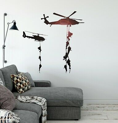 $49.99 • Buy Helicopter Vinyl Wall Decal Marines Military War Soldier Stickers Mural (ig2323)