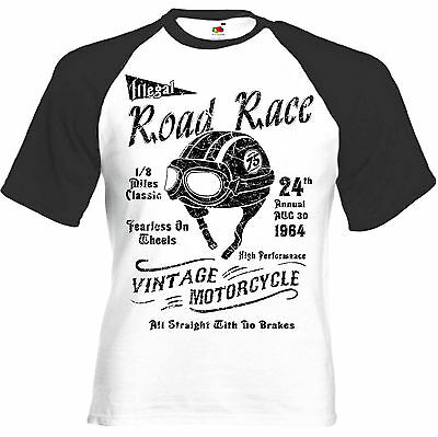 $ CDN21.29 • Buy T-Shirt ROAD RACE - Cafe Racer Triumph Norton BSA Vintage Retro Biker Motorcycle