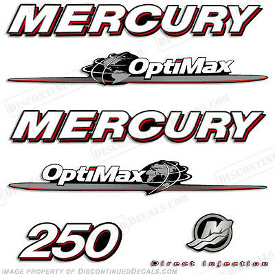 AU120.69 • Buy Mercury 250hp Optimax Decal Kit Replacement Decals For Outboard Motors 2007-2012