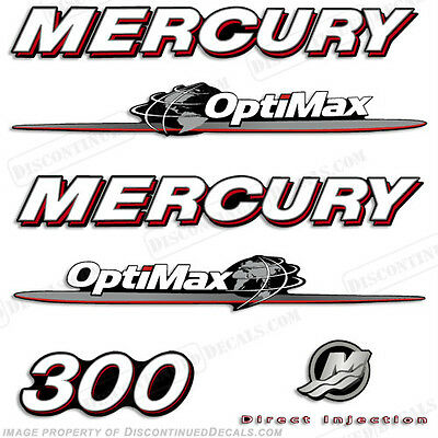 AU120.69 • Buy Mercury 300hp Optimax Decal Kit Replacement Decals For Outboard Motors 2007-2012