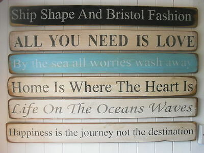 SHABBY CHIC Large WOODEN SIGN* Plaque Ageing Architectural Quotes • 15.50£