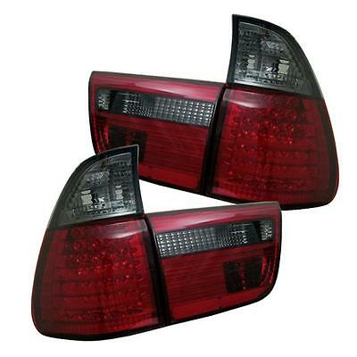 $360 • Buy Pair  LED Tail Lights Lamps 4PC BMW E53 X5 2000-2006 Red Smoke Lens 1 Yr Warrant
