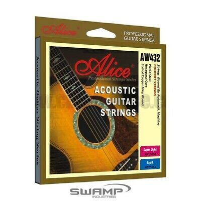 AU7.49 • Buy Alice Steel Acoustic Guitar Strings - 11-52
