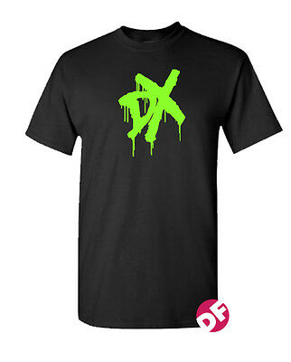 DX T Shirt Wrestling D Generation X Men And Childs Fluorescent Green Graphic • 11.99£