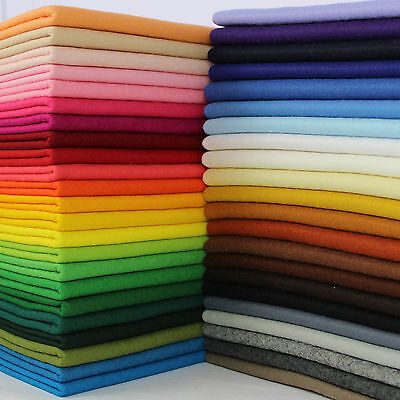 Quality 40% Wool Blend Felt 1mm Thick - Sold In Sheets Or Per Metre • 3.95£