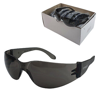 AU37 • Buy 12 Pairs Smoke Lens Industrial Safety Glasses - Texas - Maxisafe
