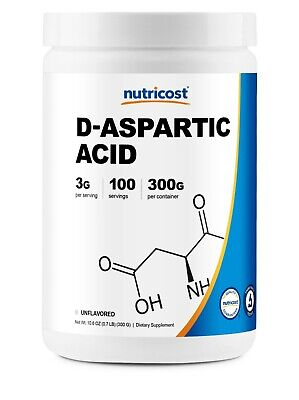 AU22.83 • Buy D-Aspartic Acid (DAA) By Nutricost 300G (Unflavored) - 100 Servings