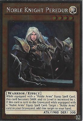 Yu-gi-oh: Platinum Rare - Noble Knight Peredur - Nkrt-en010 - Limited Edition • 0.99£