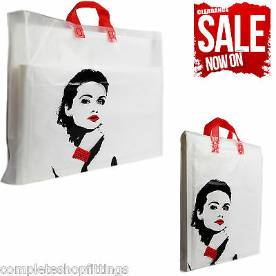 New Flexi Loop Princess Design Printed Carrier Bags Strong Gift Party Bag    • 6.99£