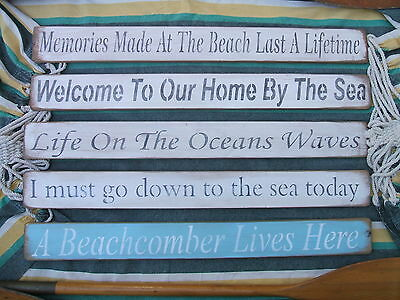 Memories Made At The Beach....shabby Chic Wooden Signs • 15.50£