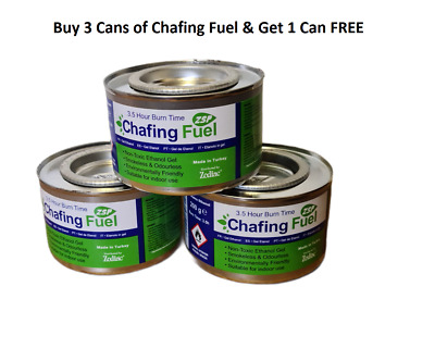 £6.99 • Buy 3  X 3.5 Hour Chafing Dish Fuel Gel Cans  (GET 1 Can Of Chafing Fuel FREE)
