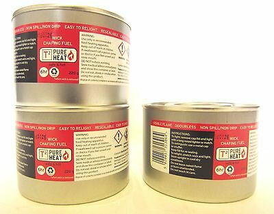 £9.99 • Buy 3 X Wick Light Chafing Fuel Catering 6 Hour Burning BBQ Buffet Camping Parties