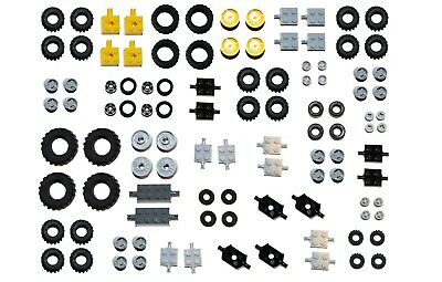 LEGO WHEELS 100 Pieces Set Pack City Like 6118 Small Medium Large Tyre Axle FSH • 10.17£