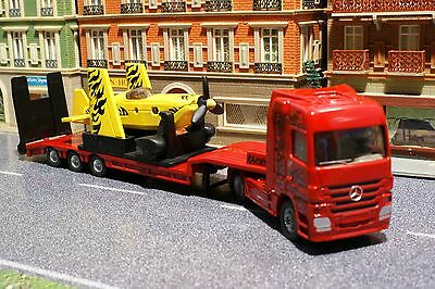 £19.11 • Buy Siku 1866 - Mercedes Benz Actros Low Loader With Sporting Airplane - Scale 1:87