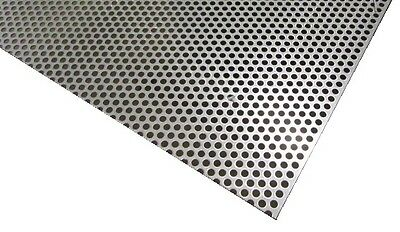 £162.88 • Buy Perforated 304 Stainless Steel Sheet .075  Thick X 24  X 24 , .250  Hole Dia.