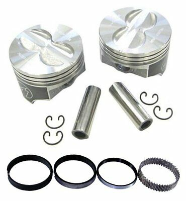AU281.58 • Buy Speed Pro H616CP30 Chevy 400 406 Flat Top Hyper Pistons & Moly Rings Kit 030 SBC
