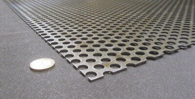 £87.95 • Buy Perforated Staggered Steel Sheet .075  Thick X 24  X 24 , .375  Hole Dia.
