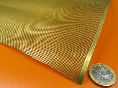 £96.74 • Buy Brass Perforated Extra Thin Sheet,  .016  Thick X 24  X Per Ft , .024  Hole Dia.