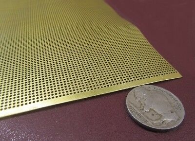 £71.73 • Buy Brass Perforated Extra Thin Sheet,  .016  Thick X 24  X Per Ft , .033  Hole Dia.