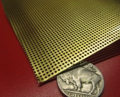 £70.22 • Buy Brass Perforated Extra Thin Sheet,  .016  Thick X 24  X Per Ft , .040  Hole Dia.