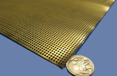 £50.89 • Buy Brass Perforated Extra Thin Sheet,  .016  Thick X 24  X Per Ft , .057  Hole Dia.