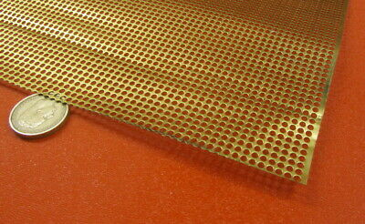 £51.22 • Buy Brass Perforated Extra Thin Sheet,  .016  Thick X 24  X Per Ft , .103  Hole Dia.