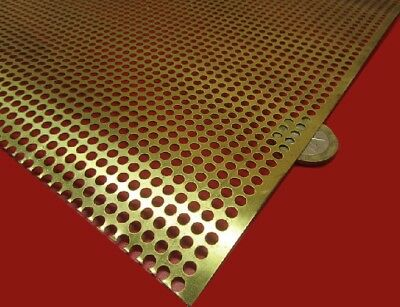 £58.32 • Buy Brass Perforated Extra Thin Sheet,  .016  Thick X 24  X Per Ft , .138  Hole Dia.