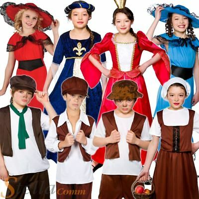 £8.99 • Buy Boys Girls Tudor Victorian Book Week Fancy Dress Costumes Kids Child Outfit