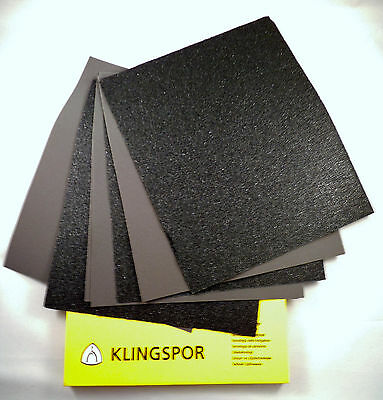KLINGSPOR Wet And Dry Sand Paper Sanding Sandpaper Mixed You Choose  • 3.47£