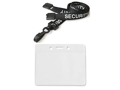 ID Card Holder Plastic Wallet And Security Neck Strap Lanyard Badge Pass Holder • 1.80£