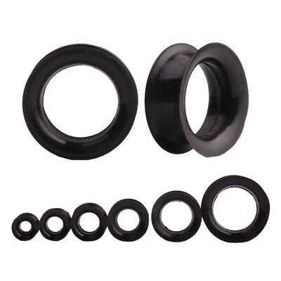 AU6.80 • Buy BLACK Silicone Ear Flesh Tunnels Piercing Stretchers Jewellery Plugs Flared TU11
